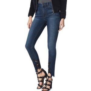 🆕Sam Edelman Stiletto High Waist Lace Hem Jeans